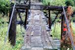 rickety wooden bridge, Pecos River, One Lane Bridge, CSMV02P10_10