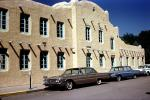old post office, Buick, Cars, automobile, vehicles, Chevy, Adobe, Building, Landmark, 1960s, CSMV03P02_15