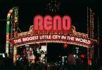Reno Arch, night, arch, neon, Exterior, Outdoors, Outside, Nighttime, landmark, CSNV01P07_05