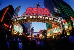 Reno Arch, Downtown, dusk, neon lights, fisheye, CSNV01P08_16