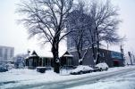 Mardi Gras building, Home, House, trees, cars, snow, blizzard, sleet, storm, Cold, Ice, Winter, Wintry, Cars, vehicles, Automobile, CSNV01P11_02