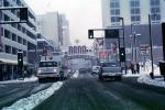 Reno Arch, Virginia Street, Downtown, snow, blizzard, sleet, storm, Cars, vehicles