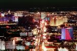 The Strip, Neon Signs, Cityscape, Skyline, buildings, Nighttime, Night
