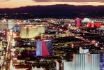 The Strip, Twilight, Dusk, Dawn, Cityscape, Skyline, buildings, casinos, hotels, neon signs