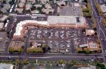 Corner Shopping Mall, Parking, Cars, mall, suburbia, suburban, buildings