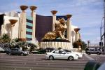 The MGM Grand Hotel, Lion, cars, Casino, building, vehicles, Automobile, CSNV06P11_09