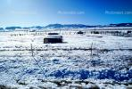 Barn, Fence, building, mountains, ice, cold, snow, South Fork, CSOV01P07_18