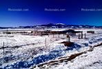 Barn, Fence, building, mountains, ice, cold, snow, South Fork, CSOV01P07_19