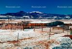 Barn, Fence, building, mountains, ice, cold, snow, South Fork, CSOV01P08_01.1744