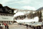 Vail Ski Resort, The Lodge at Vail, Cars, vehicles, Automobile, February 1972, 1970s, CSOV02P11_12