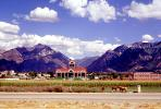 Mapleton, horses, mountains, building, CSUV01P10_19