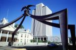 Eagle Gate Monument, Salt Lake City, arch, LDS Office building, intersection of State Street at South Temple, Temple Square, July 1979 , 1970s
