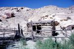 wagon wheel, Log Cabin, building, fence, hill, boulders, hut, homestead, Dirt, soil, cartwheel, wagonwheel, CSUV01P15_18