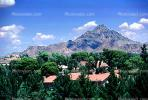 Camelback Mountain, homes, trees, sky, CSZV01P01_05