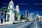 St Augustine Cathedral, Roman Catholic church, Diocese of Tucson, skyline, cars, Twin bell towers, vehicles, Automobile