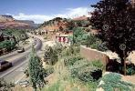 Oak Creek Canyon, highway, road, cars, buildings, CSZV02P07_10