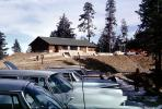 Mount Lemon ski lodge, vehicles, Automobile, House, building, parked cars, 1960's
