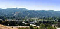Alamo, Panorama, Trees, Building, summer, hills, mountains, forest
