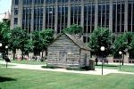 Log Cabin, Dallas County Post Office, first post office, landmark, building 1843, CTXV02P15_19