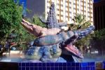 Los Lagartos, Alligator Fountain, downtown, El Paso