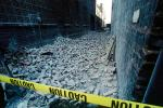 Collapsed Walls, Bricks, south of Market, SOMA, Loma Prieta Earthquake (1989), 1980s, DAEV01P06_09