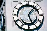The Clock Stops, Loma Prieta Earthquake, (1989), 1980s, outdoor clock, outside, exterior, building, roman numerals, DAEV01P09_02