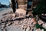 Fallen Bricks, Marina district, Loma Prieta Earthquake (1989), 1980s, DAEV01P09_13