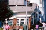 Collapsed Apartment Building, Marina district, Loma Prieta Earthquake (1989), 1980s, DAEV01P10_11