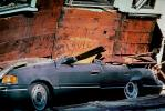 Crushed Car, Collapsed Apartment Building, Marina district, Loma Prieta Earthquake (1989), 1980s, DAEV01P10_19
