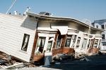 Collapsed Home, Crushed Automobile, Marina district, Loma Prieta Earthquake (1989), 1980s, DAEV01P11_12