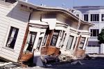 Collapsed Home, Crushed Automobile, Marina district, Loma Prieta Earthquake (1989), 1980s, DAEV01P11_16