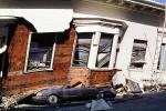 Collapsed Home, Crushed Automobile, Marina district, Loma Prieta Earthquake (1989), 1980s, DAEV01P11_18