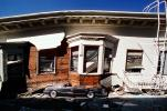 Crushed Car, Collapsed House, Marina district, Loma Prieta Earthquake (1989), 1980s, DAEV01P12_06