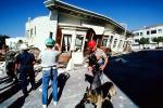Cadaver Dog, Rescuer, Collapsed House, Marina district, Loma Prieta Earthquake (1989), 1980s