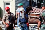 Rescuers, Marina district, Loma Prieta Earthquake (1989), 1980s, DAEV01P13_01