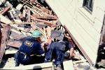 EMT Rescuers, Marina district, Loma Prieta Earthquake (1989), 1980s, DAEV01P13_02