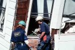 Rescuers, Collapsed Home, Marina district, Loma Prieta Earthquake (1989), 1980s, DAEV01P13_08