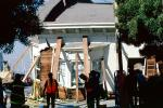 Collapsed Home, Rescuers, Marina district, Loma Prieta Earthquake, (1989), 1980s, DAEV01P15_02