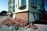 Fallen Bricks, Garage, Marina district, Loma Prieta Earthquake (1989), 1980s, DAEV02P01_04