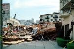 Rubble, Fillmore Street, Marina district, Loma Prieta Earthquake (1989), detritus, 1980s, DAEV02P07_03