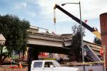 Crane, Cypress Freeway, pancake collapse, Loma Prieta Earthquake (1989), 1980s, DAEV02P12_03
