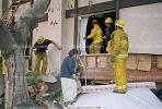 Firefighters, Woman, Apartment Building Collapse, Northridge Earthquake Jan 1994, DAEV03P08_16
