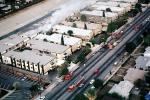 Building Fire, Northridge Earthquake Jan 1994, Collapse