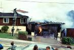 Burning Garage, driveway, Point Loma, Loma Portal, Willow Street, San Diego, 1960s