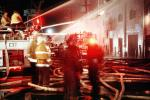 fire at 3rd street and 20th street, San Francisco, flashing lights, Potrero Hill, Dogpatch District