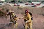 Wildfire, Firefighters, Firemen, San Bruno Mountain, DAFV06P05_13