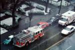 Ambulance, cars, street, rain, winter, DAFV07P14_14