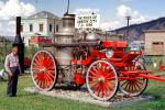 1898 Horse-drawn Steam Pumper, Pump, Dawson City, Canada, 1890's, DAFV08P05_19B