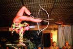 Woman with Bow and Arrow stunt, Contortionist, vpl