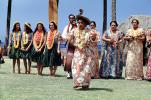 Women Dancing, Leis, dress, string bass, Hawaii, Hula, EDAV01P07_02